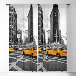 NYC - Yellow Cabs - FlatIron Blackout Curtain