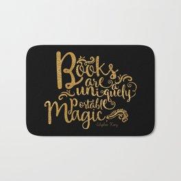 Books are a Uniquely Portable Magic Gold Bath Mat