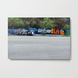 Welcome 2 LA by David Hohmann, Westwood Prints.   Metal Print