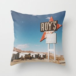 Roy's Retro Motel Throw Pillow
