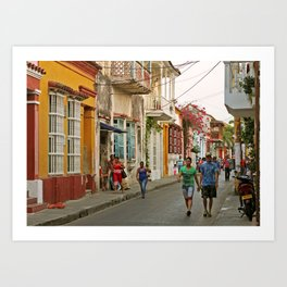 Streets of Cartagena Art Print