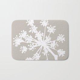 White Plant On A Grey Background #decor #buyart #society6 Bath Mat