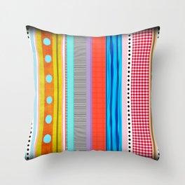 Polka Dots  and Colorful Fun Throw Pillow