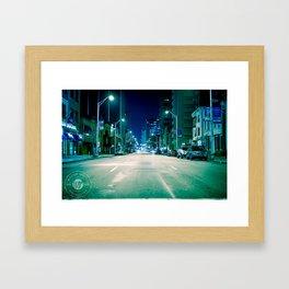 Get with the program. Framed Art Print