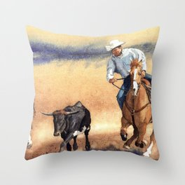On the Hoof Throw Pillow