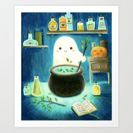 Ghost and potions Art Print