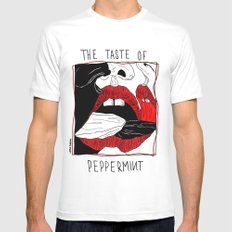 The taste of peppermint MEDIUM Mens Fitted Tee White