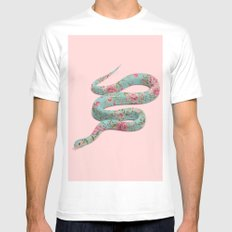 FLORAL SNAKE 2X-LARGE Mens Fitted Tee White