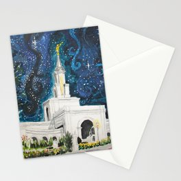 Sacramento CA LDS Temple Starry Stationery Cards