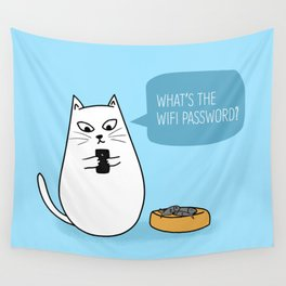 Wifi Cat Wall Tapestry