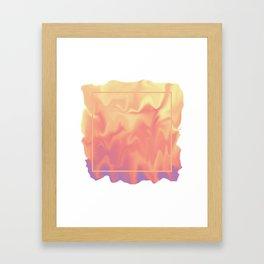 melting colors Framed Art Print