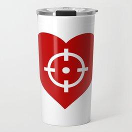Heart as target Travel Mug