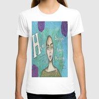 hero T-shirts featuring Hero by Leanne Schuetz Mixed Media Artist