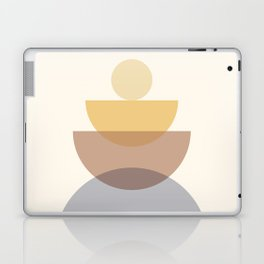 Abstraction Shapes 4 in Neutral Shades (Sun and Moon Phases) Laptop & iPad Skin