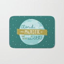 """How Majestic"" Bible Verse Print Bath Mat"
