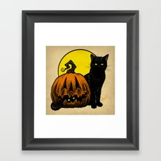 Still Life with Feline and Gourd Framed Art Print