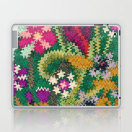 Starry Floral Felted Wool, Green Laptop & iPad Skin