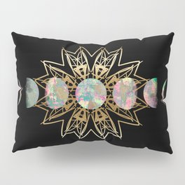 Opal Moon and Gold Stars Pillow Sham