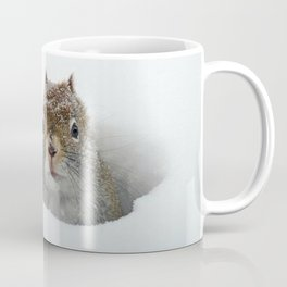 Pop-up Squirrel in the Snow Coffee Mug