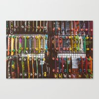 skate Canvas Prints featuring Skate by fusillo.foto
