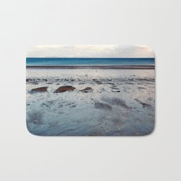 Blue Beach Bath Mat