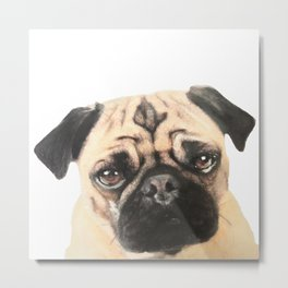 Pugging Love Metal Print