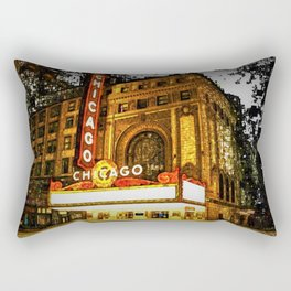Chicago Theater Portrait No. 2 Rectangular Pillow