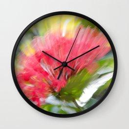 Flower Burst - Electric Magenta Wall Clock