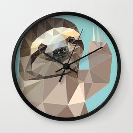 HI SLOTH Wall Clock
