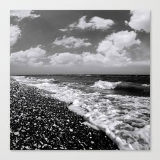 BEACH DAYS XXII BW Canvas Print