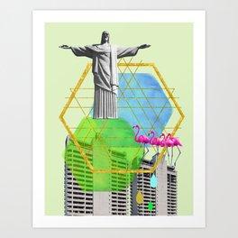 Christ of Suburbia Art Print