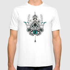Magic Eye White Mens Fitted Tee SMALL