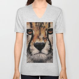 Cheetah, Savannah Hunter Unisex V-Neck
