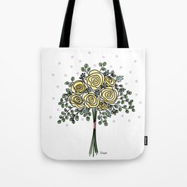 Peony and Eucalyptus Bridal Bouquet Tote Bag