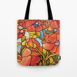 Red Poppy Lamp Tote Bag