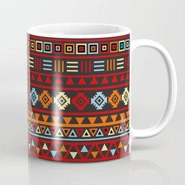 Aztec Influence Ptn IV Orange Red Blue Black Yellow Coffee Mug