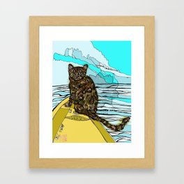 bengal cat art print Framed Art Print