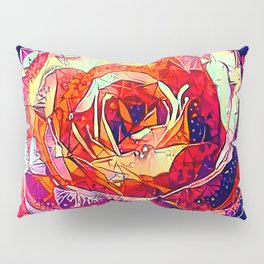 Jeweled Rose Pillow Sham