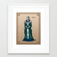 valar morghulis Framed Art Prints featuring Ulmo by wolfanita
