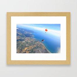 Sky Dive Framed Art Print