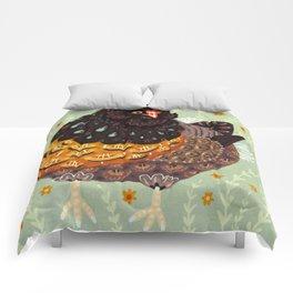 Golden Chicken Comforters