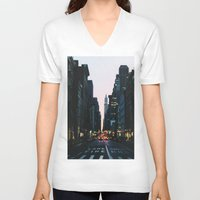 broadway V-neck T-shirts featuring Broadway by cascam