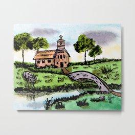 Lakeside Faith Metal Print