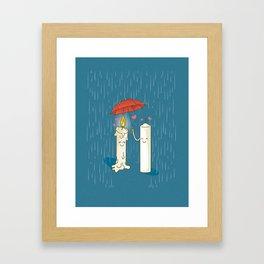 LOVE CANDLES Framed Art Print