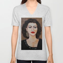 Amalia Rodrigues – Music born in the soul Unisex V-Neck