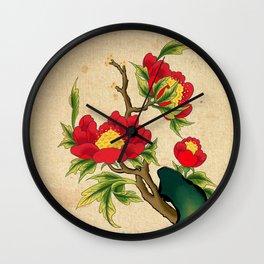 Minhwa: Peony on the Rock A Type Wall Clock
