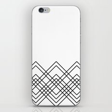 Geometric abstract - black and white. iPhone Skin