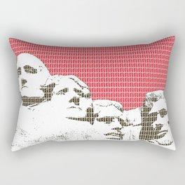 Mount Rushmore - Red Rectangular Pillow