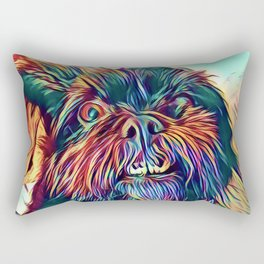 The GRIFFON from our POP YOUR POOCH line Rectangular Pillow
