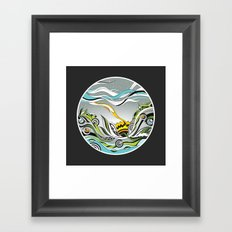 When the Earth meets the Sky Framed Art Print